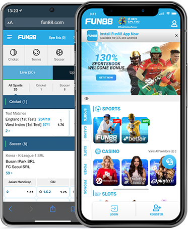Fun88's mobile app on your smart phone makes online betting easy, safe and secure! Available for iOS & Android